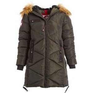 Canada Weather Gear Faux Fur Quilted Puffer Jacket